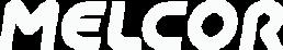 White Melcor Logo.